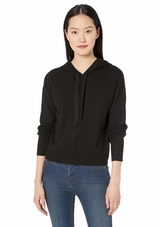 Nicole Miller New York Women's Hooded NMNY Knit Sweatshirt