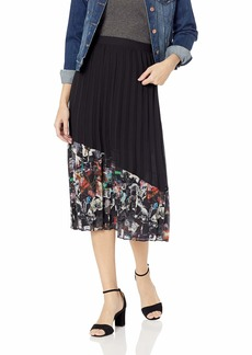 Nicole Miller New York Women's Knee Length Flowy Midi Skirt
