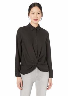 Nicole Miller New York Women's Long Sleeve Button Down Blouse  M