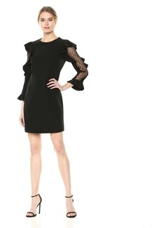 Nicole Miller New York Women's Long Sleeve Cocktail Dress