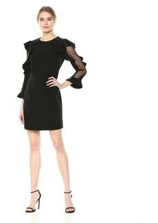 3d0cd9a507ae Nicole Miller Nicole Miller Natalia Off-Shoulder Cotton Metal Dress ...