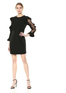 Nicole Miller New York Women's Long Sleeve Cocktail Dress  Size