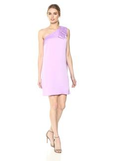 Nicole Miller New York Women's one-Shoulder Dramatic Oversized Bow Dress
