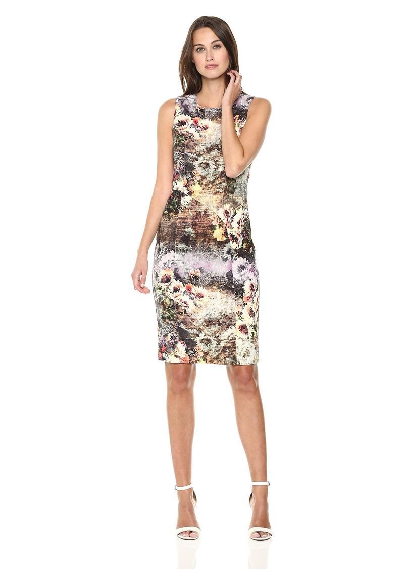 Nicole Miller New York Women's Printed Sleeveless Sheath Dress