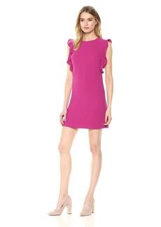 Nicole Miller New York Women's Ruffle Sleeve Shift Dress