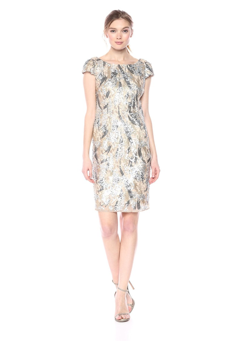Nicole Miller New York Women's Sequined Cocktail Dress
