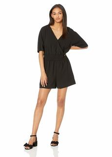 Nicole Miller New York Women's Short Sleeve Romper black-00101