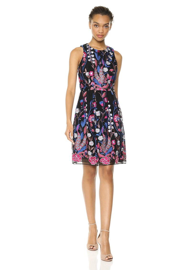 Nicole Miller New York Women's Sleeveless fit and Flare Cocktail Dress