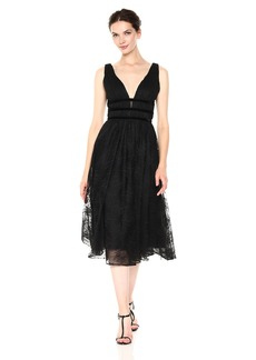 Nicole Miller New York Women's Sleeveless fit and Flare Floral lace