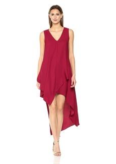 Nicole Miller New York Women's Sleeveless High-Low Asymmetrical Dress
