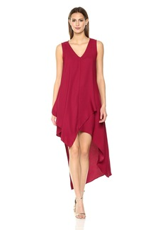 Nicole Miller New York Women's Sleeveless High-Low Asymmetrical Dress