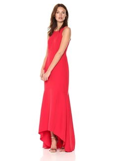 Nicole Miller New York Women's Sleeveless High-Low Mermaid Gown
