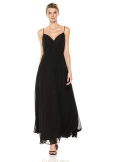 Nicole Miller New York Women's Sweetheart Spaghetti Strap Fit and Flare Full Skirt Gown