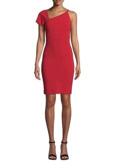 Nicole Miller One-Shoulder Asymmetrical Dress