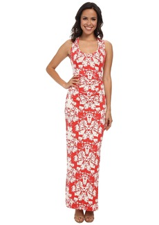 Nicole Miller Origami Jersey Maxi Dress