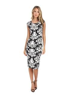 Nicole Miller Origami Jersey Midi Dress