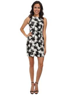 Nicole Miller Palm Medley High Neck Dress