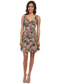 Nicole Miller Pina Crepe V-Neck Tank Dress