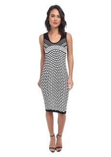 Nicole Miller Pixel Jacquard Tank Dress
