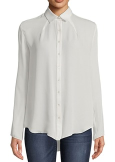 Nicole Miller Pleated Button-Down Top