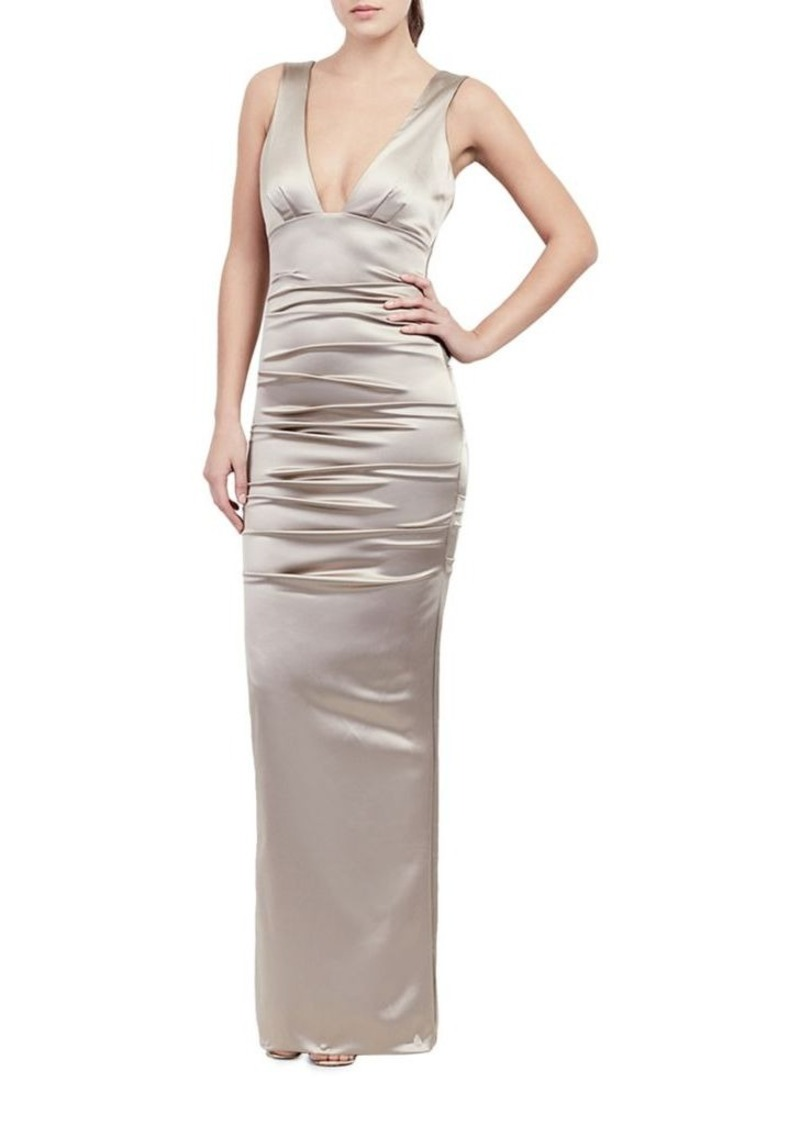 Nicole Miller Nicole Miller Plunging Bodycon Gown | Dresses