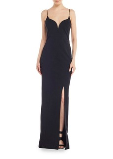 Nicole Miller Plunging Sweetheart Gown