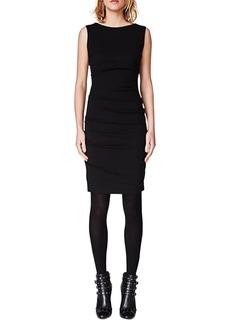 Nicole Miller Ruched Ponte-Knit Sheath Dress