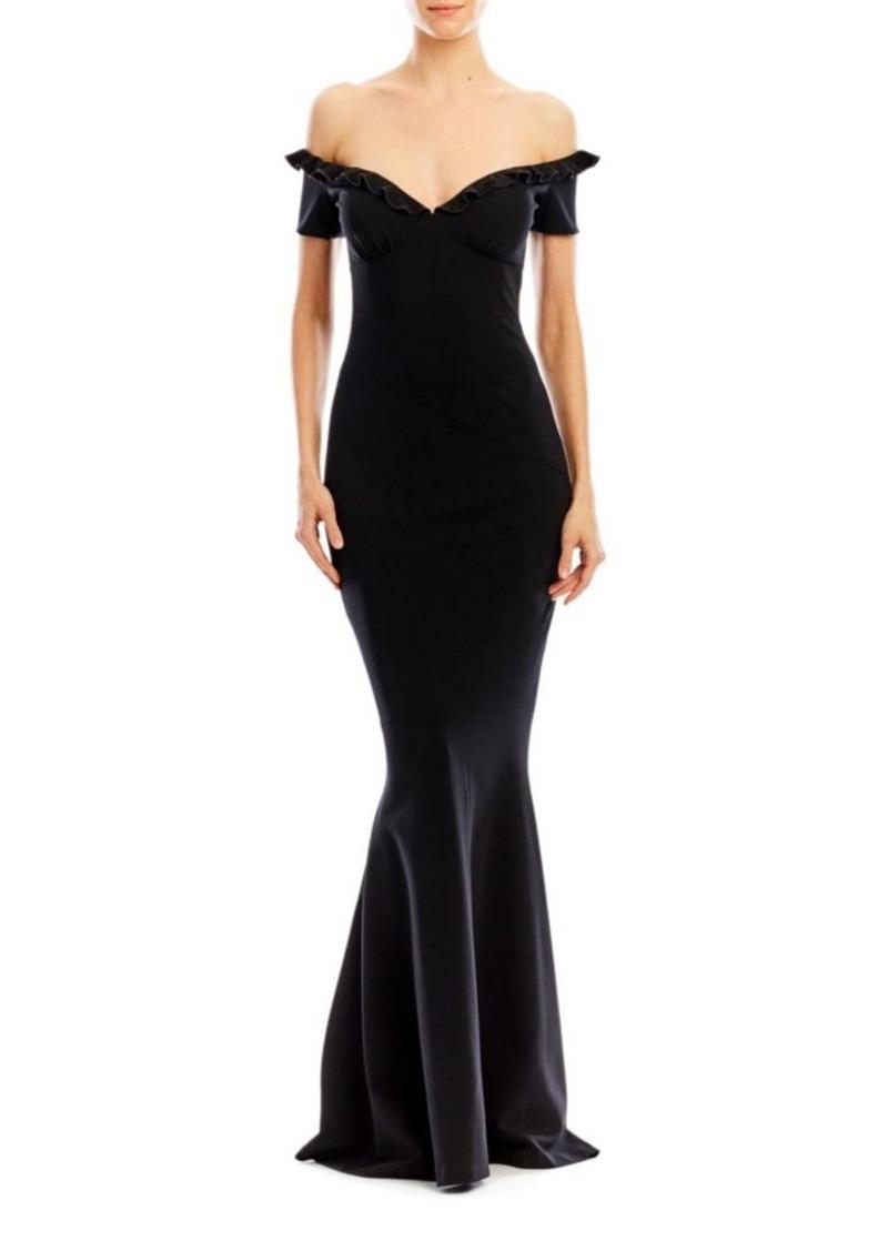 Nicole Miller Strapless Ruffle Dress