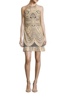 Nicole Miller Ruffled Halter Dress