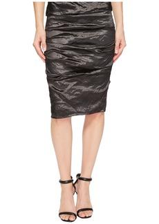 Nicole Miller Sandy Techno Metal Skirt