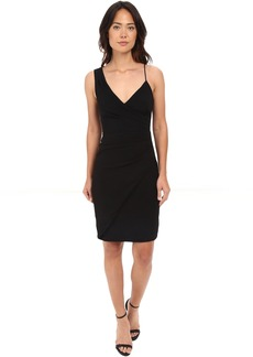 Nicole Miller Satin Back Asymmetrical Cocktail Dress