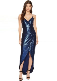 Shell Stretch Sequin Wrap Dress