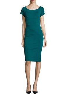Nicole Miller Short-Sleeve Ponte Body-Conscious Sheath Dress