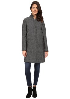 Nicole Miller Single Breasted Slim Fit Double Faced Wool Coat