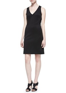 Nicole Miller Sleeveless Scuba Dress W/ Mesh Back