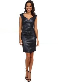 Sparkle Jacquard Wire V Dress