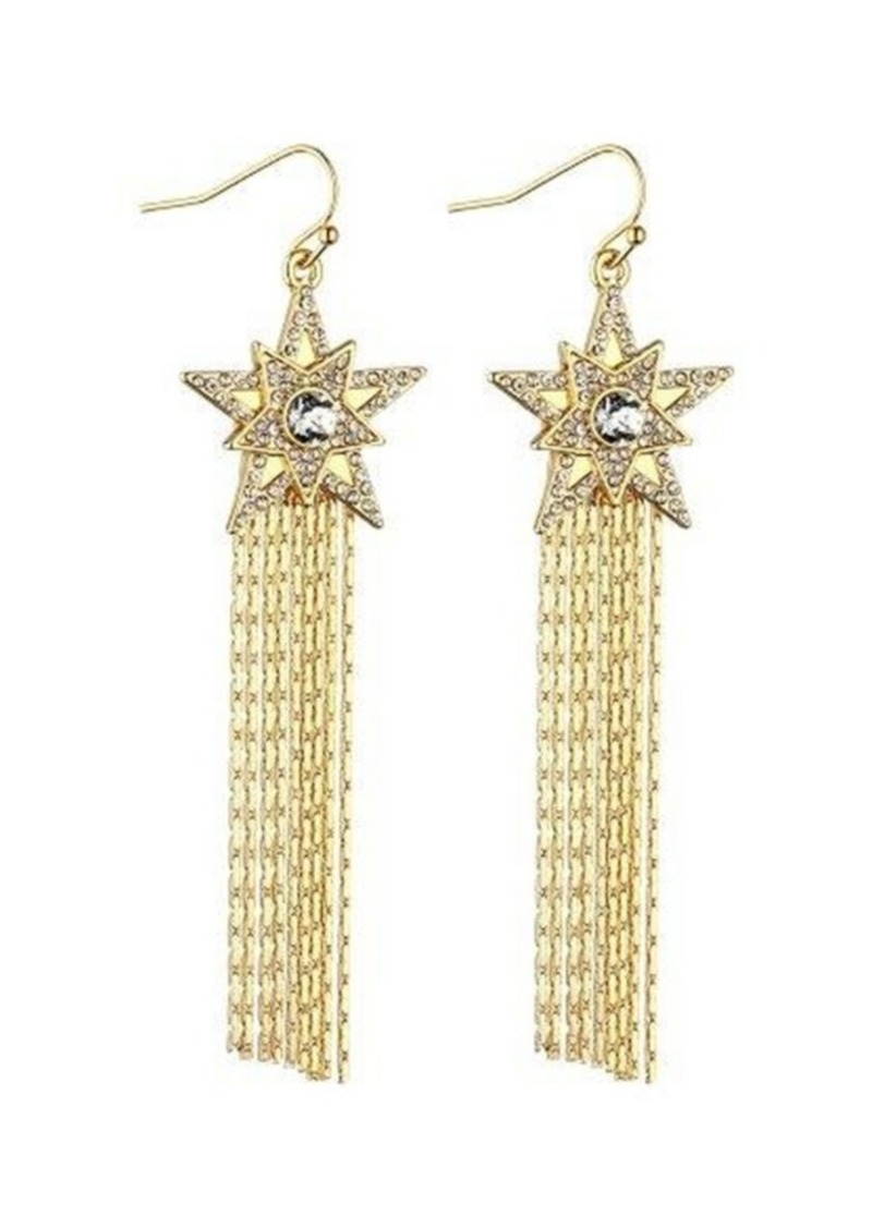 Nicole Miller Star Chain Drop Earring