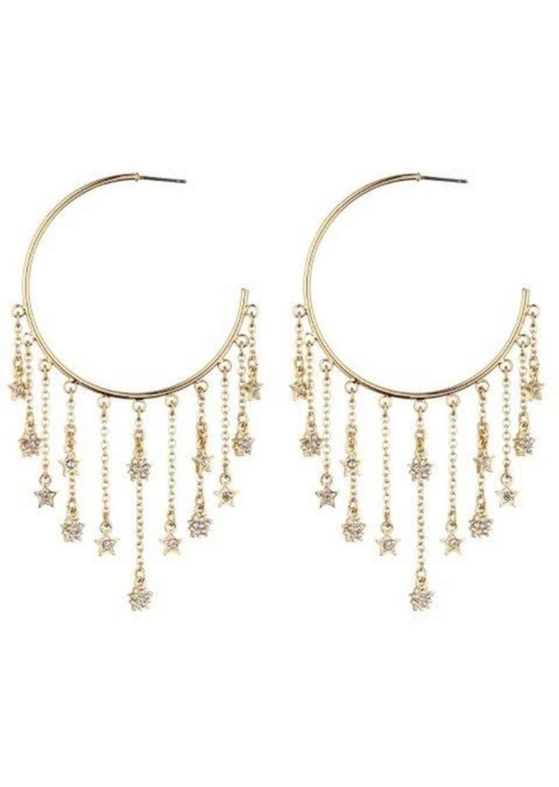 Nicole Miller Star Hoop Drop Earring