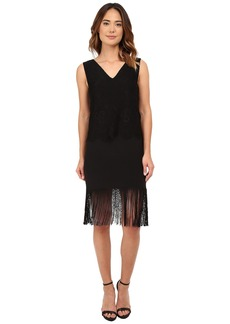 Nicole Miller Stella Fringe and Lace Party Dress