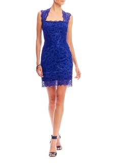 Nicole Miller Stretch Lace Cutout Back Dress