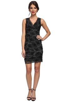 Nicole Miller Stretch Swirly Lace Dress