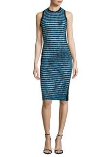 Nicole Miller Striped & Printed Sheath Dress