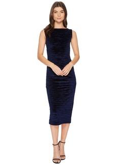 Striped Velvet Lauren Ruched Dress