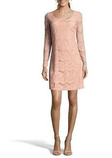 Nicole Miller Studio Bow-Back Lace Mini Dress
