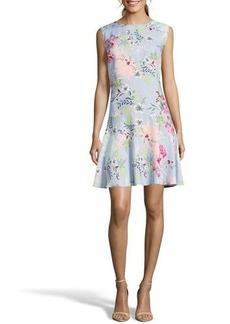 Nicole Miller Studio Floral Drop-Waist Shift Dress