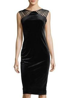 Nicole Miller Studio Sleeveless Strappy Velvet  Dress