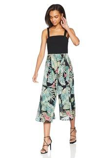 Nicole Miller Studio Women's Removeable Strap Twofer Culotte Jumpsuit