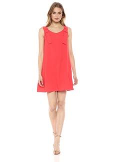 Nicole Miller Studio Women's V-Neck Bow Strap Fly Away Dress