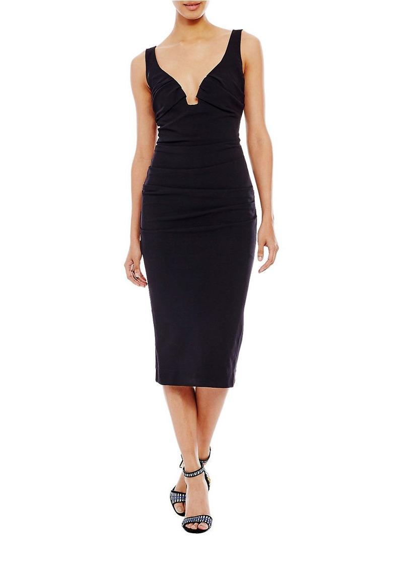 NICOLE MILLER Sweetheart Neckline Sleeveless Dress