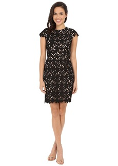 Nicole Miller Sydney Cap Sleeve Lace Dress